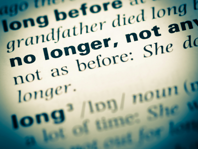 英語 no longer