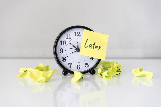 英語 procrastinate 意味 使い方